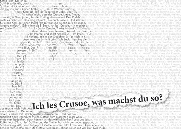 Ich les Crusoe, was machst du so? Flyer, 630px